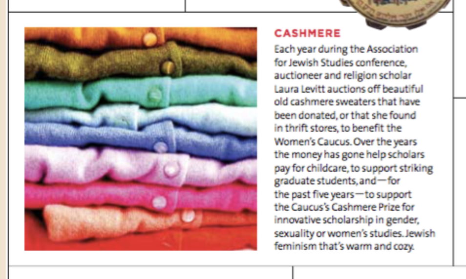 Magazine Clip, stack of sweaters